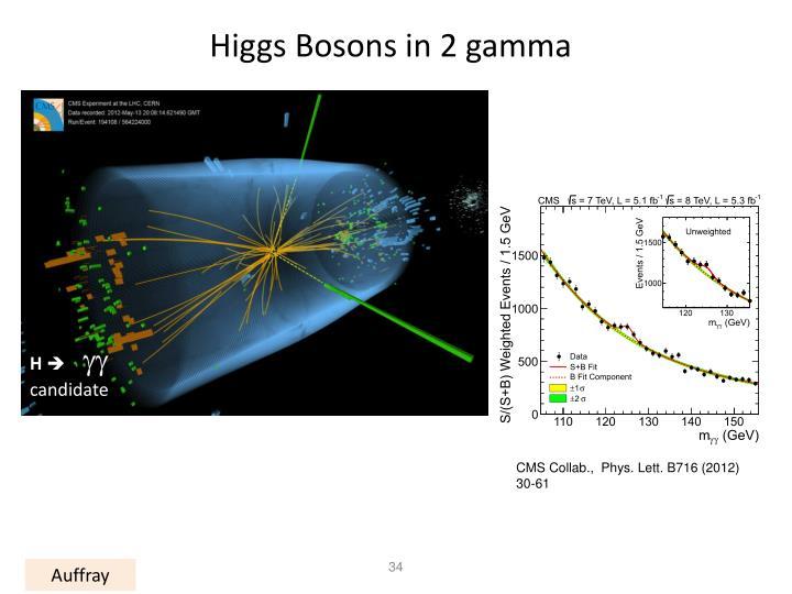 Higgs Bosons in 2 gamma