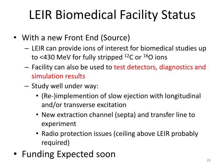 LEIR Biomedical Facility