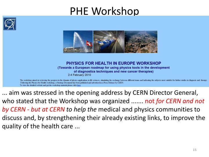 PHE Workshop