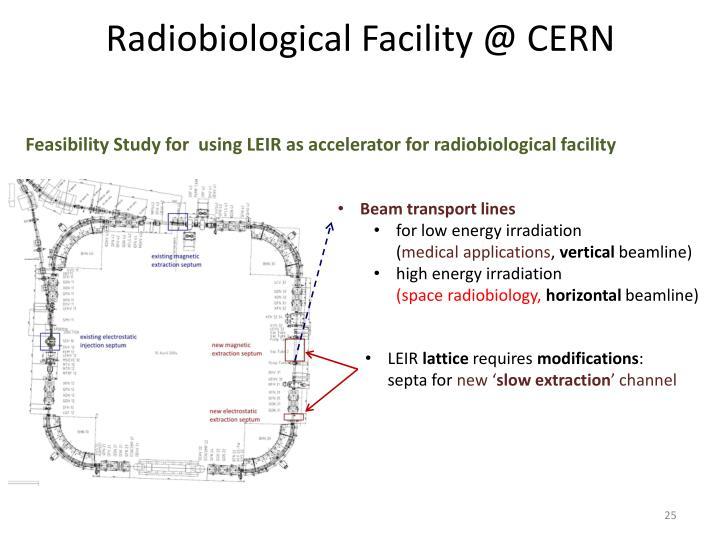 Radiobiological Facility @ CERN