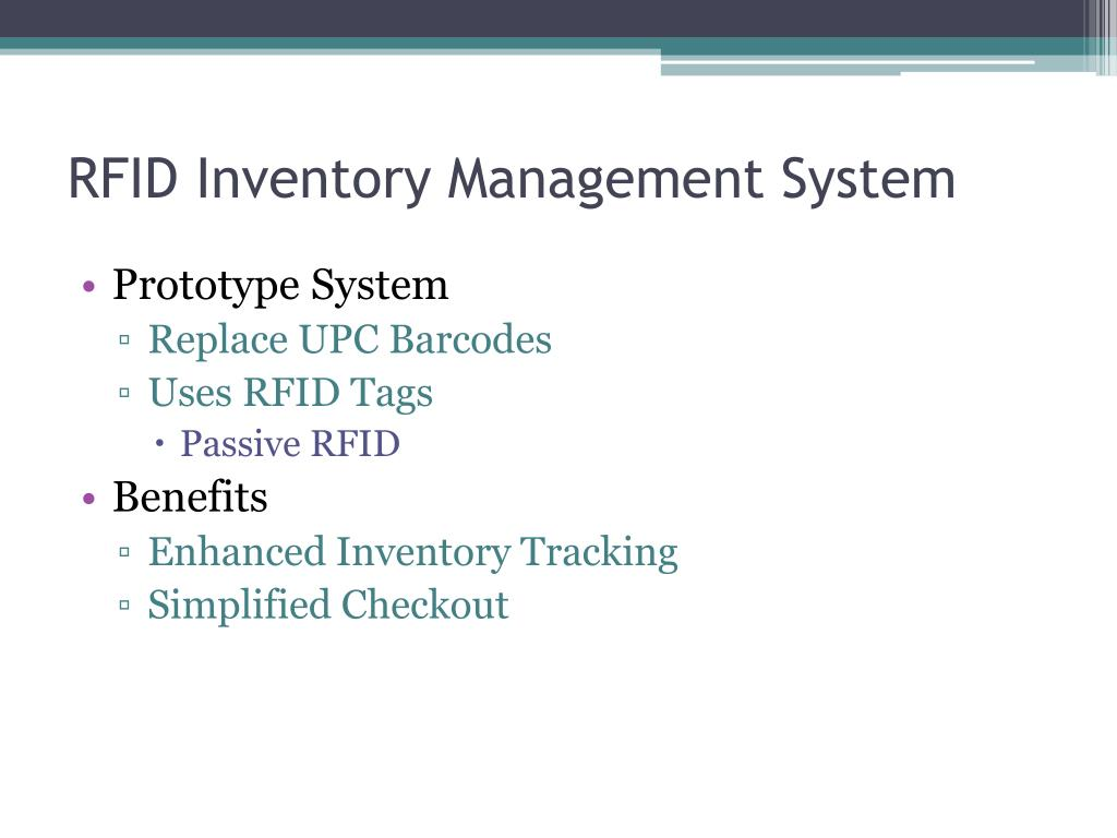PPT - RFID Inventory Management And Tracking System