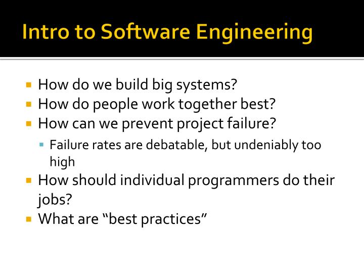 intro to software engineering n.