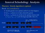 interval scheduling analysis