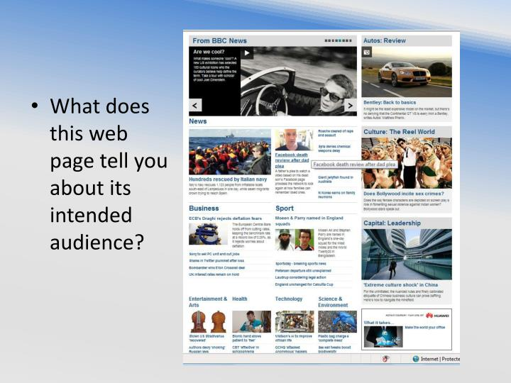 What does this web page tell you about its intended audience?