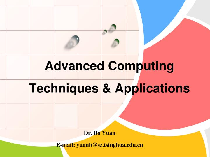 advanced computing techniques applications n.