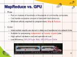 mapreduce vs gpu