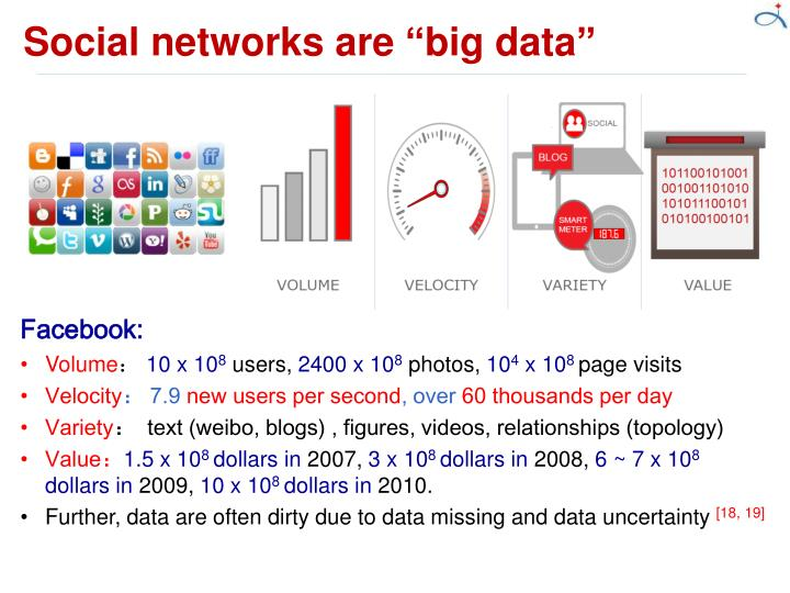 "Social networks are ""big data"""
