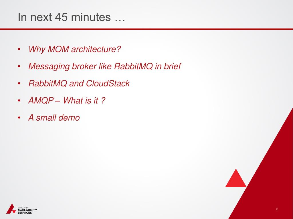 PPT - AMQP and RabbitMQ with CloudStack PowerPoint