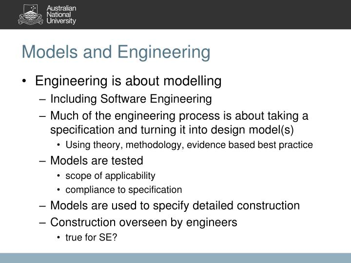 Models and Engineering