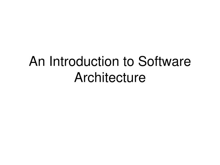 an introduction to software In contrast to software, hardware is a physical entity hardware and software are interconnected, without software, the hardware of a computer system software: helps run the computer hardware and computer system itself system software includes operating systems, device drivers, diagnostic.
