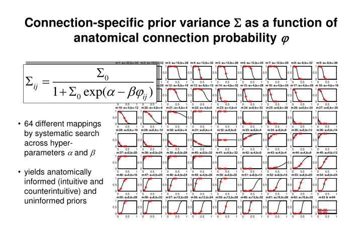 Connection-specific prior variance