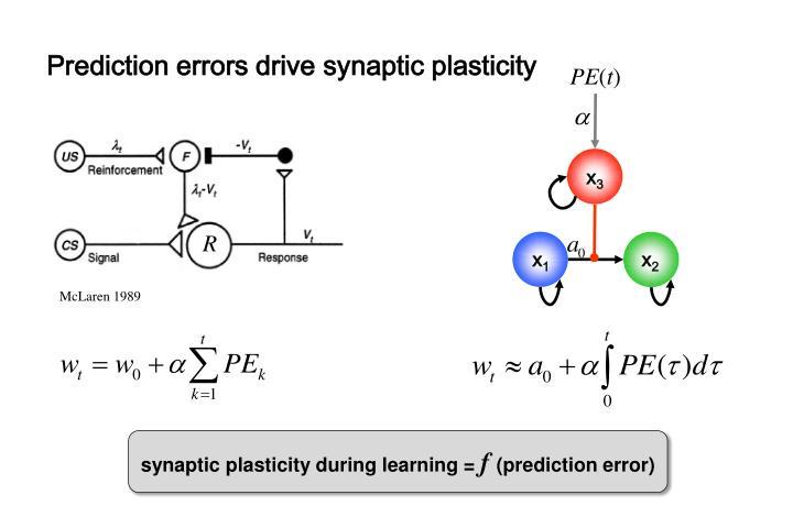 Prediction errors drive
