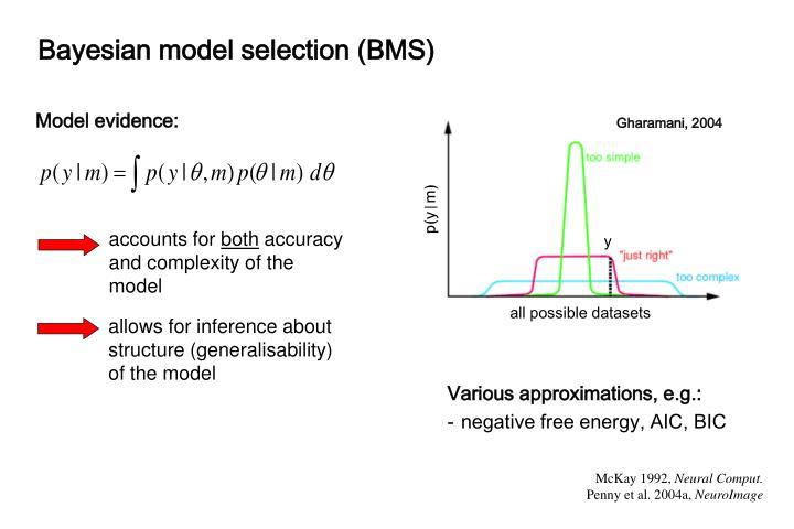 Bayesian model selection (BMS)