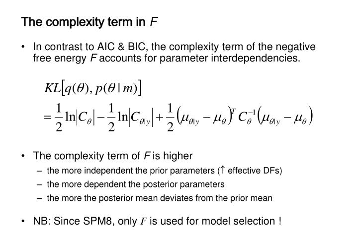 The complexity term in