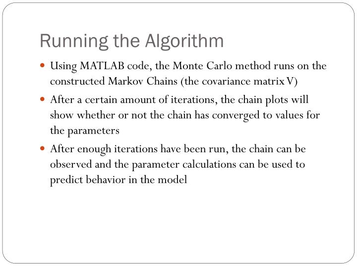 Running the Algorithm