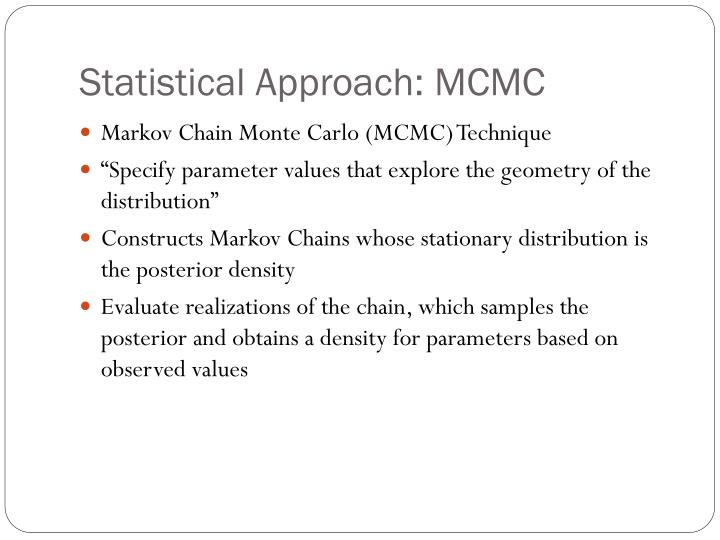 Statistical Approach: MCMC