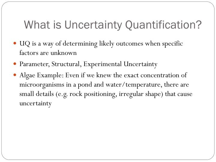What is uncertainty quantification
