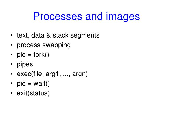 Processes and images