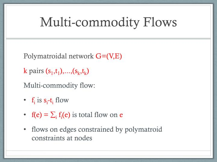 Multi-commodity Flows