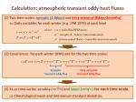 calculation atmospheric transient eddy heat fluxes
