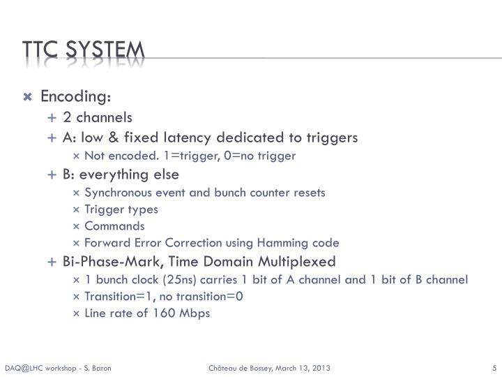 TTC SYSTEM