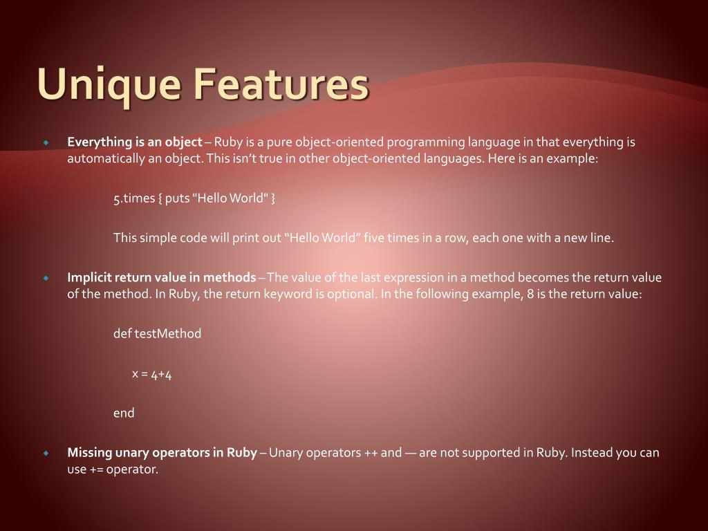 PPT - RUBY PowerPoint Presentation - ID:2388252
