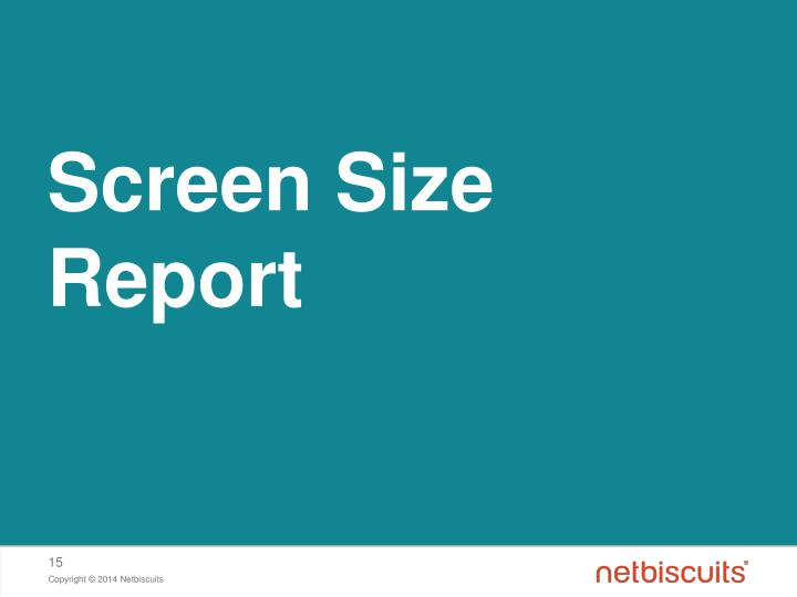 Screen Size Report