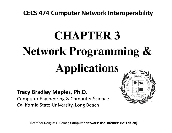 PPT - CHAPTE R 3 Network Programming & Applications