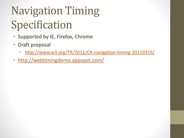 Navigation Timing Specification