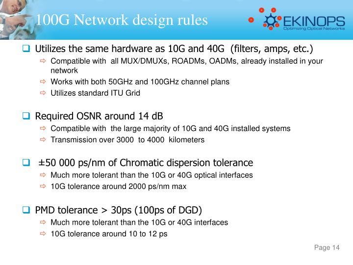 100G Network design rules