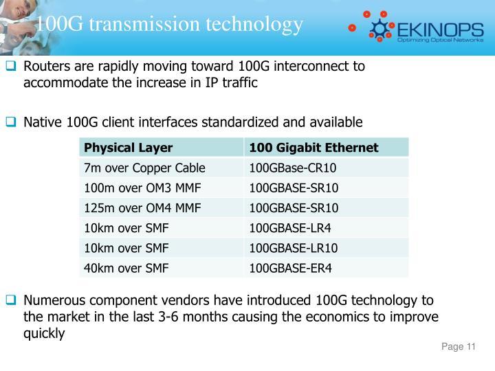100G transmission technology