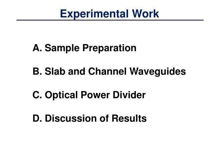 Experimental Work