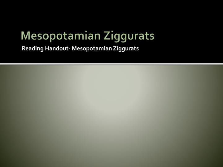 Mesopotamian Ziggurats