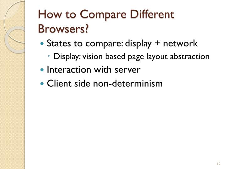How to Compare Different Browsers?