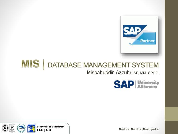 Mis database management system