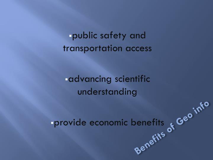 Benefits of Geo info