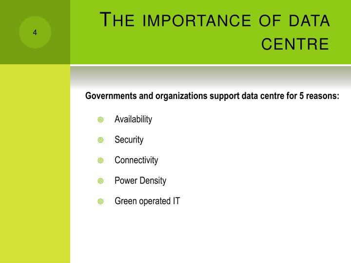 The importance of data centre
