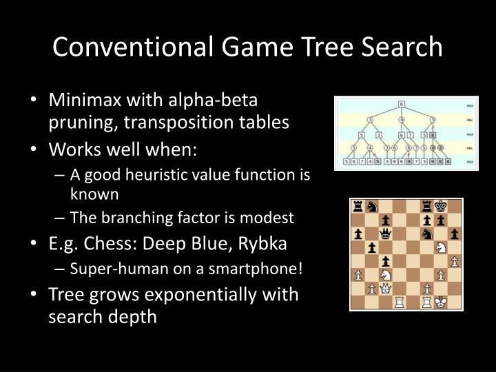 Conventional Game Tree Search