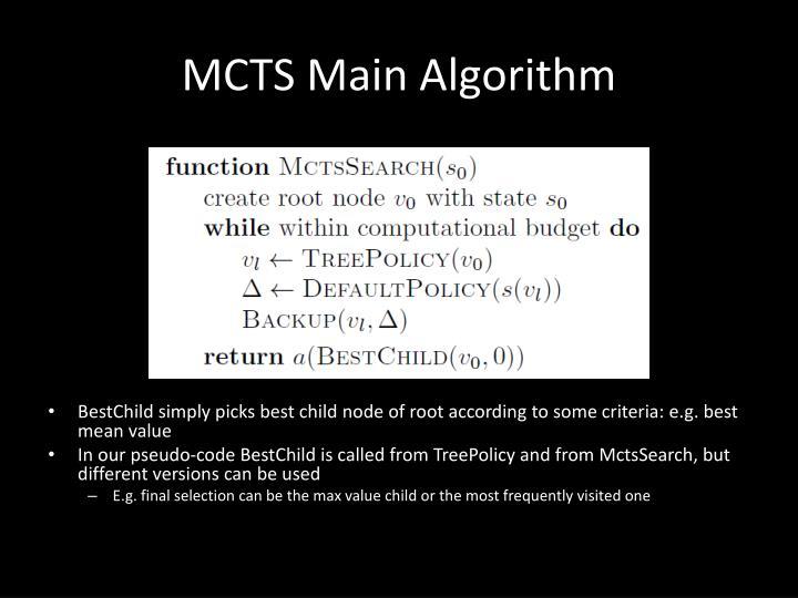 MCTS Main Algorithm