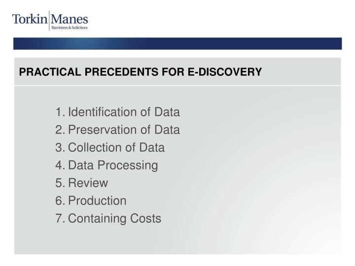 Identification of Data