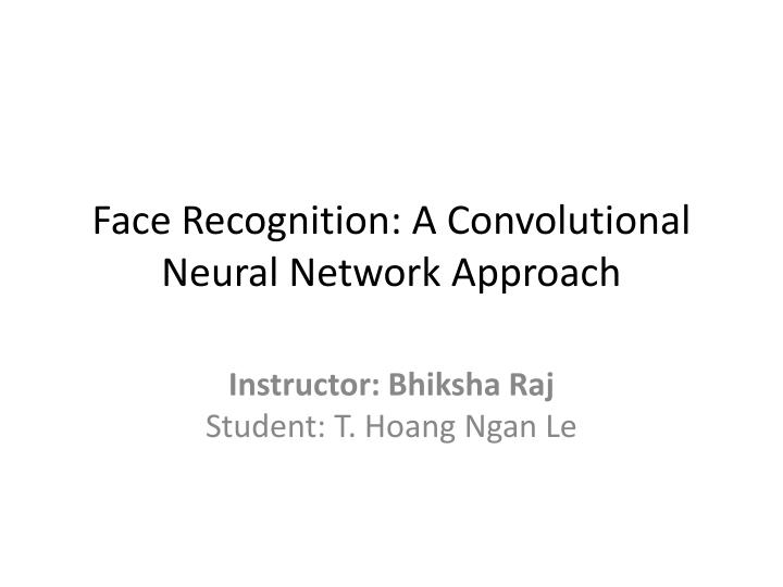 face recognition a convolutional neural network approach n.