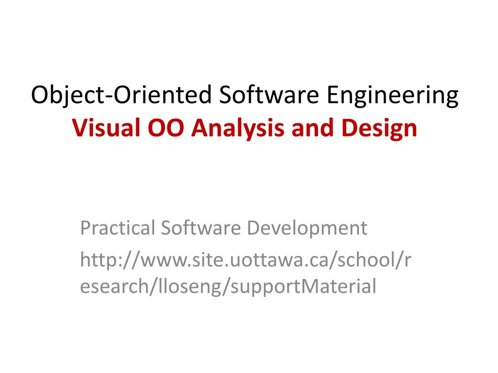 Ppt Object Oriented Software Engineering Visual Oo Analysis And Design Powerpoint Presentation Id 2388964