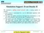 simulation support event density ii