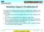simulation support parallelization ii