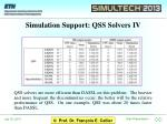 simulation support qss solvers iv