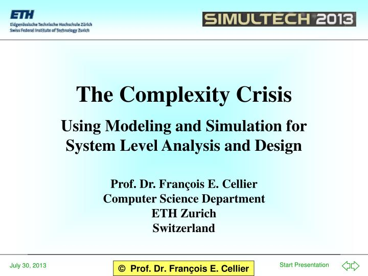 the complexity crisis n.
