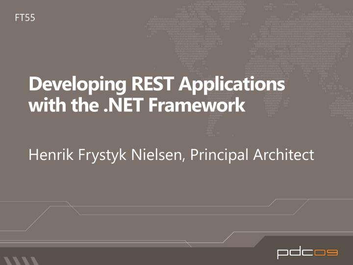 developing rest applications with the net framework n.