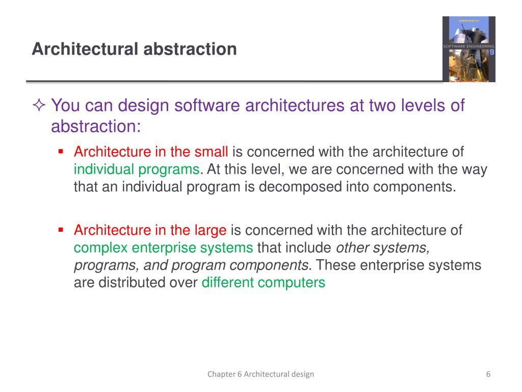 PPT - Chapter 6 – Architectural Design PowerPoint