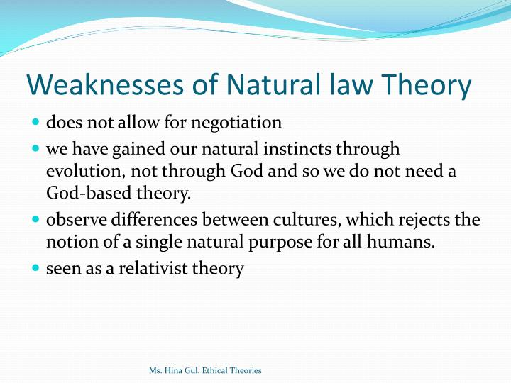 weaknesses of natural law