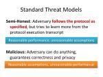 standard threat models